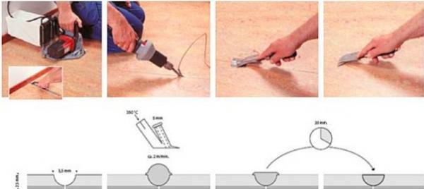 Чем и как сварить линолеум в домашних условиях