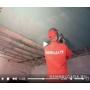 Монтаж листов гипсокартона на потолок с подрезкой и установкой профиля видеосюжет с места проведения работ