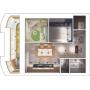 Первое место на конкурсе в рамках выставки «Interioroom» - проект «Личное пространство в однокомнатной квартире»