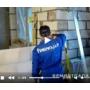 Укладка стен из пеноблока видеосюжет с места проведения работ