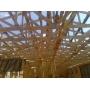 Деревянные фермы на металлических зубчатых пластинах для быстровозводимых крыш