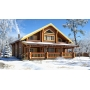 Зимнее строительство домов из древесины