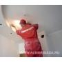 Финишная шлифовка потолка видеосюжет с места проведения работ