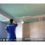 Установка арочных уголков на потолок с заделкой швов и стыков в гипсокартоне видеосюжет с места проведения работ