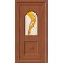 Входные двери ПВХ с витражом
