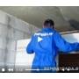 Монтаж и возведение перегородок из пеноблоков видеосюжет с места проведения работ