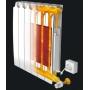 Водяной радиатор, работающий как электрический, даже когда система отопления выключена.