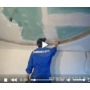 Шпатлевание поверхности гипсокартона на потолке