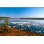 Для поставок оконного профиля в Якутск использована особая схема переправы через реку Лену