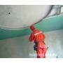 Монтаж листов гипсокартона на потолок видеосюжет с места проведения работ