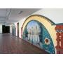 Фрески и фотообои ОРТО украсили интерьер школы для одарённых детей в Московской области.
