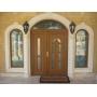 Полуторные двери с дизайнерскими заполнениями VP trend