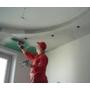 Шпатлевание потолочной поверхности видеосюжет с места проведения работ