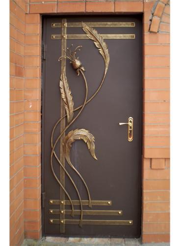 кованная стальная дверь