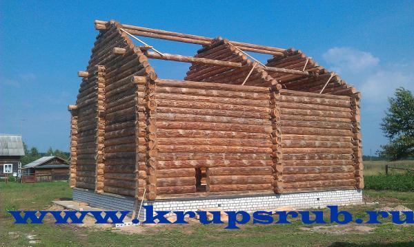 срубы домов москва тверь - Фото 1