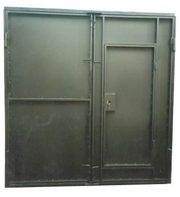 Как сделать ворота с дверью