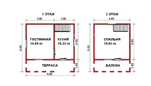 Дом 6х6 с балконом проект 4 москва - mirstroek.ru.