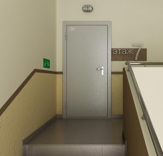 установка железной двери в офисе