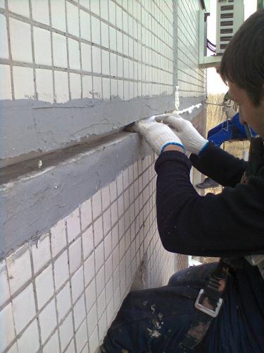 Герметизация межпанельных швов на балконе