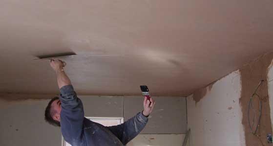 Штукатурка потолка своими руками под покраску видео