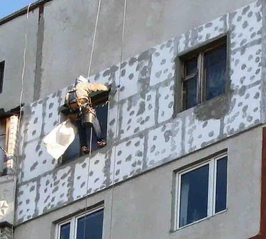 Утепление покраска фасадов лоджий балконов -монтажно-демонта.