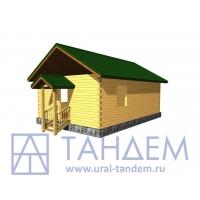 Дом деревянный 6x9 Площадь - 49,59 кв.м. из простого бруса в Екатеринбурге
