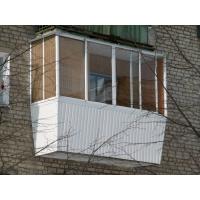 Остекление балкона с выносом (алюминиевое)