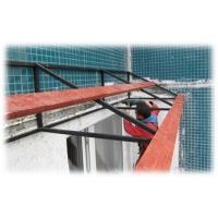Монтаж кровли балконов