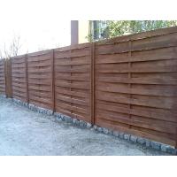 Забор из дерева плетенный