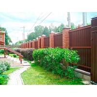 Изготовление (строительство) и установка заборов из кирпича, дерева, металла, поликарбоната, а также ограждений из сетки-рабицы и профнастила