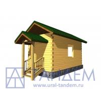Дом деревянный 6х3 из простого бруса