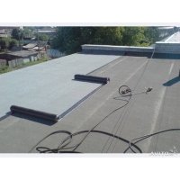 Покрытие крыш гаражей бикростом