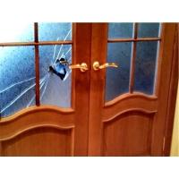 Замена, установка разбитого стекла в двери