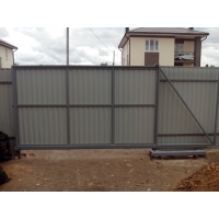 Раздвижные ворота и костроме забор металлический прайс