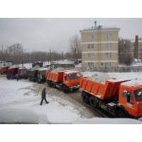 Самосвалы для вывоза снега