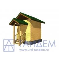 Дом деревянный 3х3 из простого бруса