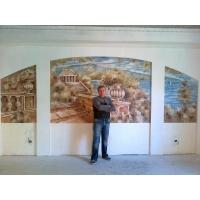 Роспись стен в оригинальной технике.