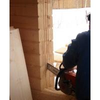 Окосячка окон и дверей в деревынном доме