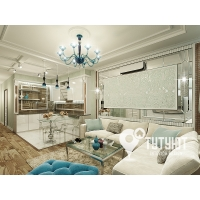 Дизайн-проект интерьера трехкомнатной квартиры