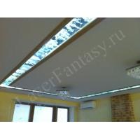 Лазерная гравировка потолка с подсветкой и без
