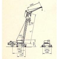 Кран монтажный специальный на одноосном тягаче МКТ-40