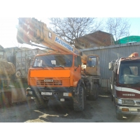 автокран Клинцы (шасси Камаз), гп 25 тонн, 28 метров, вездеход