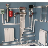 Монтаж системы отопления дома 97 м2