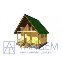 Дом деревянный 6x6 Площадь-31,09 кв.м. из простого бруса в Екатеринбурге