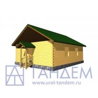 Дом деревянный 8x10 Площадь - 73 кв.м. из простого бруса в Екатеринбурге