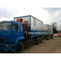 Доставка перевозных бань, бытовок и блок-контейнеров