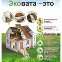 Утепление домов эковатой