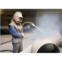 Пескоструйная очистка шпунта, металлоизделий, металлопроката, стальных труб.