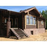 Построим красивый  дом из бревна (см. фото)