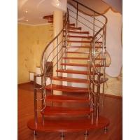 Деревянные лестницы и ограждения из нержавеющей стали
